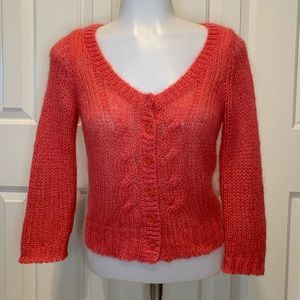 Anthro Guinevere Mohair Cropped Cardigan